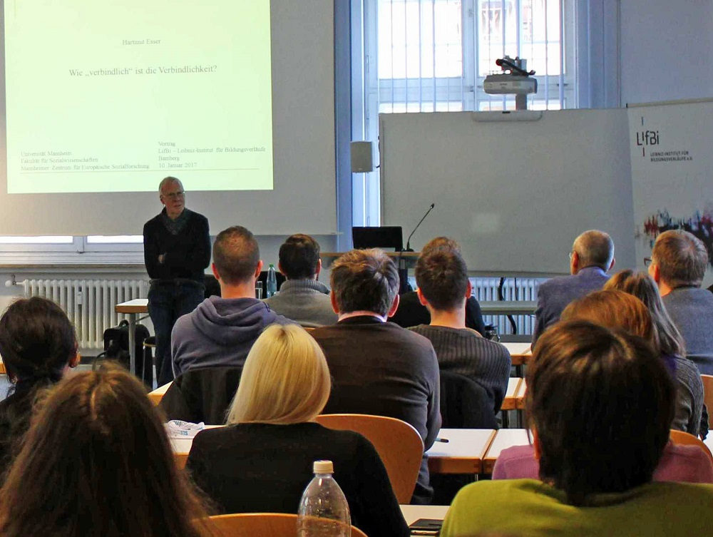 Prof. Dr. Hartmut Esser talked about the effects of educational systems on social and ethnic educational inequality.
