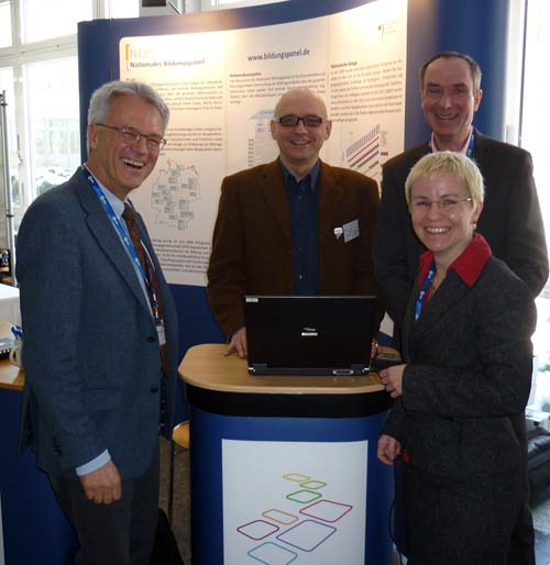 From left to right: Prof. Dr. Manfred Prenzel, Dr. Götz Lechner, Dr. Thomas Bäumer, Dr. Jutta von Maurice.