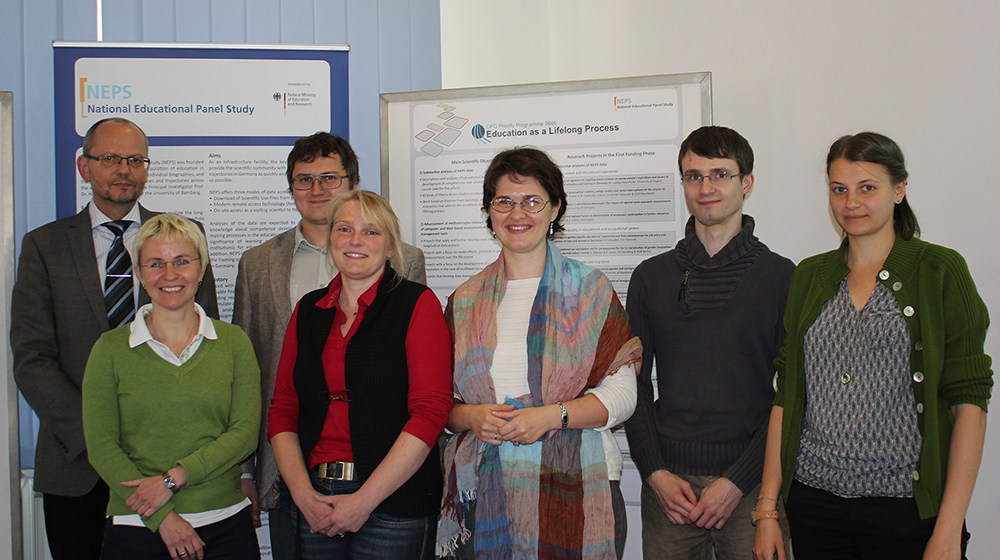From left to right: Prof. Dr. Hans-Günther Roßbach, Dr. Jutta von Maurice, Dmitry Kurakin, Dr. Michaela Sixt, Valeriya Malik, Dr. Frank Reichert, Ekaterina Pavlenko.