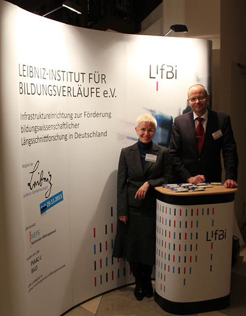Prof. Dr. Hans-Günther Roßbach, Managing Director of LIfBi, and Dr. Jutta von Maurice, Executive Director of Research of LIfBi